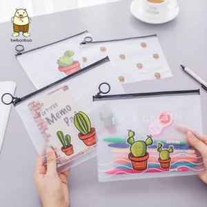 Beibaobao Cactus Transparent Scrub Cosmetic Bag Travel Makeup Case Ladies Make Up Organizer Storage Pouch Toiletry Women