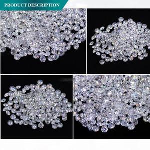 Aeaw 1 .8MM Insgesamt 1 Ctw Carat F Farbe Certified Lab Moissanite Diamant-loses Korn-Test positiv Fine Jewelry