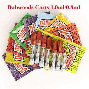 510 DABWOODS Carts Packaging Bags 0.8ml 1ml TH205 Vape Pen Tanks Ceramic Coil Wood Tip Vape Cartridges Empty Thick Oil Atomizers with bags