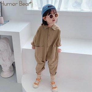 Humour Bear Enfants Vêtements Combinaisons Autumn Pocket Boys Garçons Casual Letter Outillage Outillage Enfants Vêtements Enfants Enfants Garçons Filles 201027