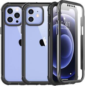 Для iPhone 12 случай, встроенный экран протектор крышка 360 Степень защиты Прочный Тонкий прозрачный чехол Совместимость с iPhone 12 Pro 6,1 дюйма