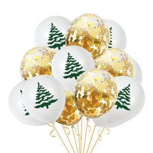 10pcs Santa Claus Elk Tree Printed Confetti Balloon Set Christmas Decoration For Home Xmas Party Navidad Noel New Year 2021 jllRNZ mxyard