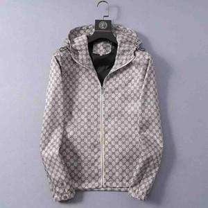 Высокое качество полосатых печатных Мужская куртка Hip Hop пальто Модные мужские куртки Zip Street Uniform Мужская куртка