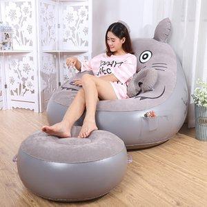 New model cartoon theame sofa balloon inflatable chair pop up lazy rest long chair with electric air pump for sale