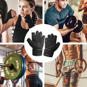 Hot Half-Finger Fitness Sports Gloves wrist protector Sweat Absorption Silicone Anti-skid Hand Training Gloves Custom wholesale 009