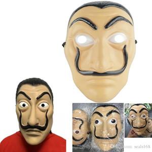 De Casa Mask Dali Party Halloween Mask Face Papel Salvador La Supplies New Costume Mask Realistic Cosplay XMAS Movie HH7-929 De Casa Ma Mbtt