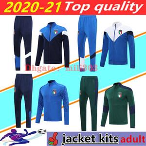 (20) (21) 이탈리아 축구 재킷 chandal 조깅 2020 2021 이탈리아 VERRATTI BELOTTI INSIGNE BERNARDESCHI 축구 훈련 정장 재킷 운동복