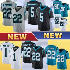22 Christian McCaffrey Men Football Tribersys 59 Luke Kuechly 1 Cam Newton 90 Julius Peppers 5 Simmons Bridgewater Stockys S-XXXL