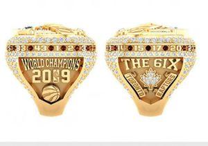 Raptors 2018 2019 Championnat de basketball Bague Souvenir Fan cadeau en gros 2020 Drop Taille de l'expédition 8 9 10 11 12 13 14