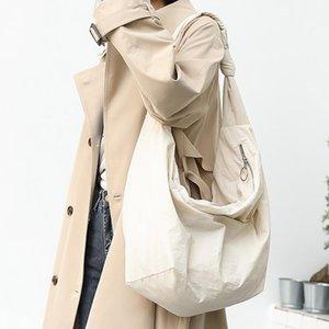 Масштабная сумка с большой емкостью, небольшая свежая сплошная сумка с твердым цветом, женское Баузен - это литературный оксфорд ткань наклона