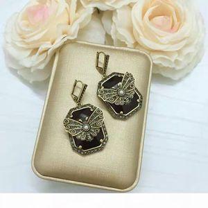 Luxury Women Earrings Gold Plated Big Red Black CZ Butterfly Earrings for Girls Women for Party Wedding Nice Gift