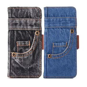 Jeans Leather Flip Phone Case for iPhone 11 Vintage Pants Cloth Wallet Cover for iPhone XR X Xs 11 Pro Max 7 8 6 6s Plus SE 2020