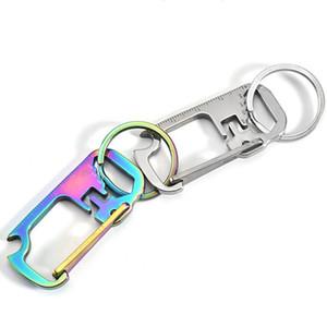 Ключ из нержавеющей стали Multi-Function English Pruler Relechain Hang Pracle Key Ring Pier Bottle opener 3 цвета LLA89