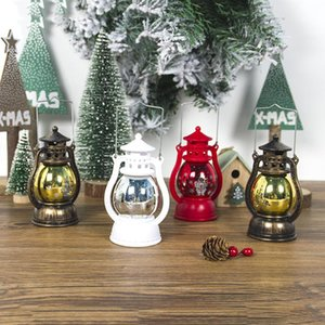 LED-Laterne Weihnachtslampe Vintage Retro Urlaub hängende Candlelight Frohe Weihnachten Neujahr Tragbares LED-Leuchten OWD2880