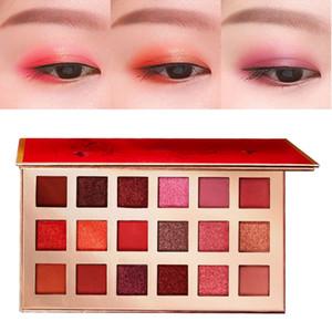 Pigment Eyeshadow 18-color Glitter Eyeshadow Palette Waterproof Smudge-proof Luminous Matte Eye Shadow Powder Maquiagem n.w