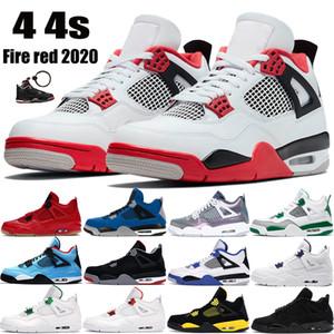 2021 Yeni 4 4s Yangın Kırmızı OG Jumpman Erkekler Basketbol Ayakkabı Siyah Kedi Çam Yeşil Metalik Mor Bred Beyaz Çimento Erkek Eğitmenler Sneakers