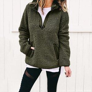 Women Winter Sherpa Sweater Teddy Fleece Zipper Turtleneck Pullover Sherpa Fleece Tops Female Winter Warm Coat Sweaters