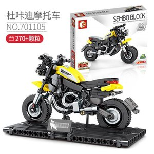 Technic City Motorcycle Bricks Creator Racing Motorbike Model Building Blocks Kit Kids Boy Toy Eucational Gift