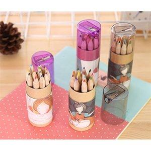 Hot lead lápis madeira 2019 cor cor lápis conjuntos de 12 crianças desenho colorido crianças DHL livre