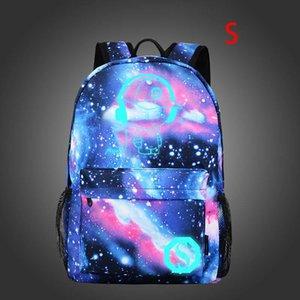 15,6 pulgadas mochilas luz nocturna mochila de gran capacidad de viaje Mochila Mochila Hombre bolso la mujer Colegio de Instituciones Bolsas nueva