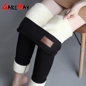 New Leggings Autumn Winter Plus Velvet Leggings Women Thick Fleece Wool Black Thermal Pants Plus Size Women Winter Warm Trousers 201007