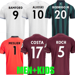 Homens + Kids 20 21 Futebol Jersey 2020 2021 Raphinha Roberts Rodrigo Koch Costa Alioski Phillips Bamford Llorente R Camisa de Futebol Top Tailândia