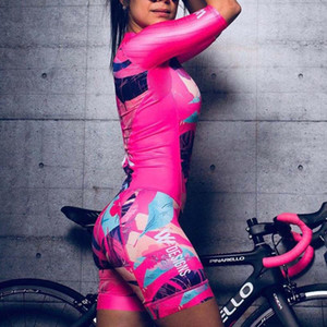 Women triathlon suit clothes Cycling skinsuits body sets Pink roupa de ciclismo feminino rompers womens jumpsuit triatlon kits