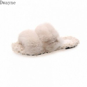 Hairy Slippers Female 2020 Korean Version Of The New Winter Wear Home Shoes Autumn And Winter Pregnant Women Cotton Drag Cowboy Boots Wsil#