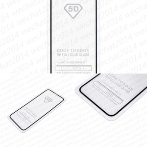 8G5P100PCS 9H 5D Full Tempered Cover Glass Carbon Fiber Screen Protector for phone X 6 6s 7 8 Plus Xs Max