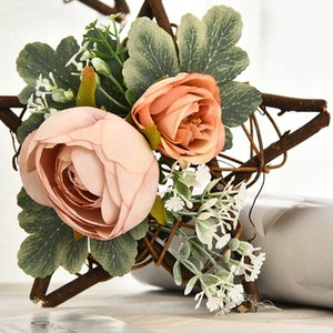 Rattans Display Window Ornament Decoration Home Decoration Mini Flower Artificiale Five Star Point Star Rattan Ciondolo Ciondolo Ciondolo Vendita Calda Nuovo Arrivo 9GL J2