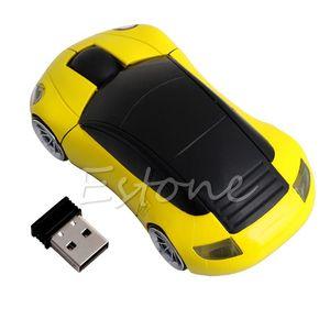 2.4G 1600DPI Mouse USB Receiver Wireless LED Light Car Shape Optical Mice