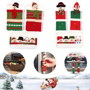 Christmas microonde frigorifero portello manicotto manicotto natale, party antistatico pupazzo di neve protettivo cover1