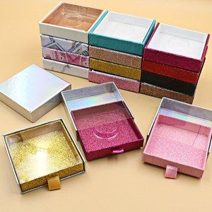 Wholesale Cosmetics Eyelash packaging boxes Square False Lashes Packing Box PVC Window Eyelash Package Box Square One Pair Mink Eyelash Box