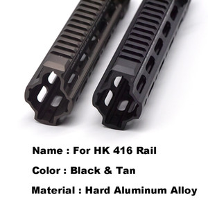 Alumínio Hard Casaco Anodizado GT Estilo 416 M-LOK Mod Sistema de Trilho de Handguard para Ar AEG Airsoft M4 Receptor de Paintball