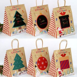 12Pcs lot Christmas Bags Candy Bags Party Gift Bags Kraft Paper Bag DIY Messages Doodle Party Gift Bag