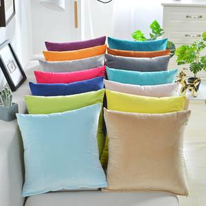 Luxury Velvet Cushion Cover Pillow Cover Pillowcase Green Yellow Pink Blue Home Decorative Sofa Throw Pillows Cover