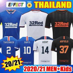 20 21 Glasgow Rangers Futbol Formalar 2021 Futbol Gömlek Deplasman Üçüncü Defoe Morelos KENT STEWART ARIBO Arfield Yetişkin çocukları mens 2020