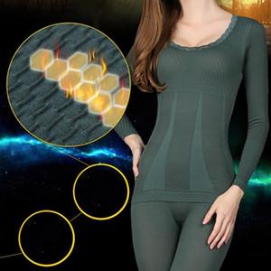 2020 Nouvelle Femme dentelle sous-vêtements thermiques hiver chaud sans couture élastique thermique intérieur Intimates Définit l'usure LJ201008