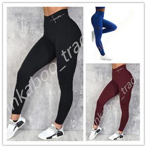 Pantaloni da donna ad alta vita yoga Pantaloni sportivi Gym Leggings Moda Lettere di Modo Adatto aderente Ladies Sweatspants Elastico Pantaloni collantini magro Pantaloni LY318