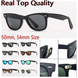 Mulheres óculos de sol Mens óculos de sol moda óculos de sol óculos de sol Real Lentes de vidro de proteção UV com estojo de couro e todo o pacote de varejo!