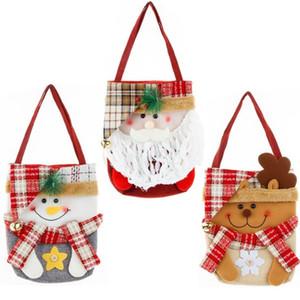 Christmas Handbag Totes Storage Candies Gift Bag X-mas Design Snowman Cartoon Handbags Christmas Decoration Festival Carry Bags CZ110903