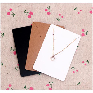 6*9Cm 100Pcs Lot Jewelry Display Card Price Tag Kraft Paper Earring Holder Necklace Cards Can Custom Logo Fqzx7