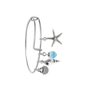 FAI DA TE Braccialetti espandibili Bangles Boemia Beach Brand Design Starfish Shell Shell Beaks Pendant Cable Braccialetto per le donne Ragazza Moda 143 O2