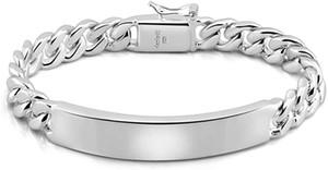 Dankadi Classic Herren Silber Schmuck Armband 100% 925 Sterling Silber Armband Glänzend Brand Armband Original Italienisch Silber Kubanische Kette