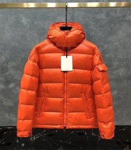 Turuncu Kış Ceket Erkek Palto Unisex WINDBREAKER Aşağı Ceket Doudoune Kapşonlu ile Parka Moda Kadınlar Puffer Jacket Isınma