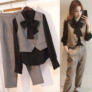 A0XXz Micro Fett Vest Alter mindernde Stil 2020 Herbst Kleidung Fett mm Western New Mode Anzug Weste Größe Frauen dreiteiligen Anzug profess