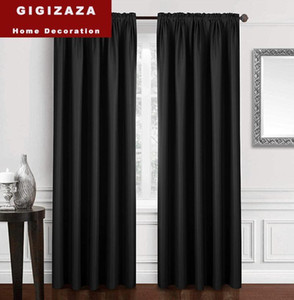 Modern Blackout Curtains For Window Treatment Blinds Black Drapes Window Blackout Curtains For Living Room The Bedroom Solid1