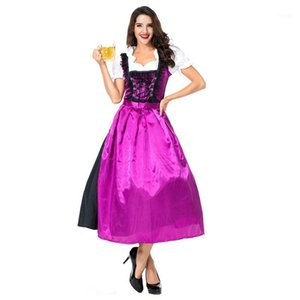 Oktoberfest Beer Girl Costume Cosplay Halloween Sexy Beer Fille Dress Dress1