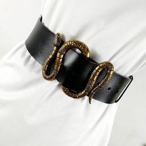 Cintos de desenhista para mulheres de luxo Ceinture Femme 2020 Plus Size Genuíno Couro G Wide Cummerbund Cinto vestindo Colete