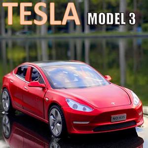 NOUVEAU 1:32 Tesla modèle 3 Alliage Car mannequin Diecasts Véhicules Toy Voitures de jouets Livraison Gratuite Jouets pour enfants Cadeaux Garçon Toyq1221